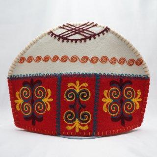 キルギスタン フェルト ティーコゼー ユルト1