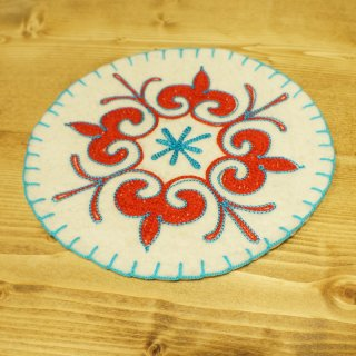 キルギスタン 民族模様 刺繍鍋敷き4