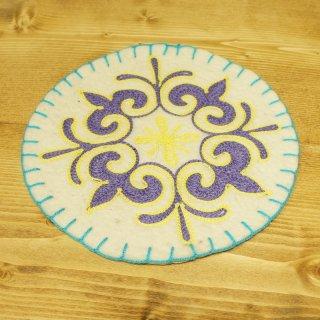 キルギスタン 民族模様 刺繍鍋敷き6