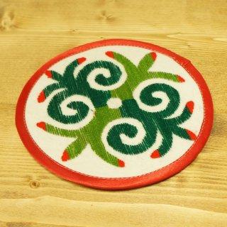 キルギスタン 民族模様 刺繍鍋敷き7