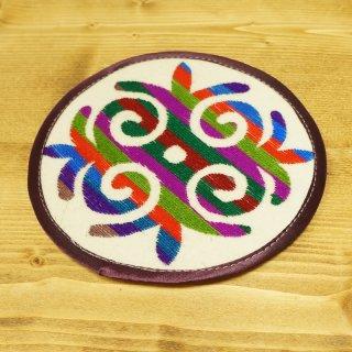 キルギスタン 民族模様 刺繍鍋敷き8