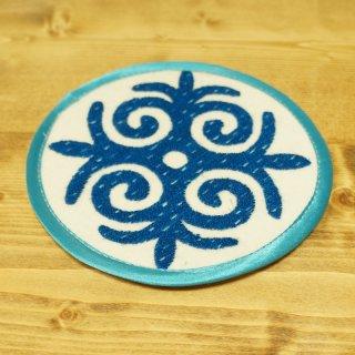 キルギスタン 民族模様 刺繍鍋敷き9