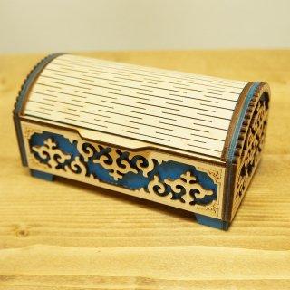キルギスタン 民族模様の木箱9