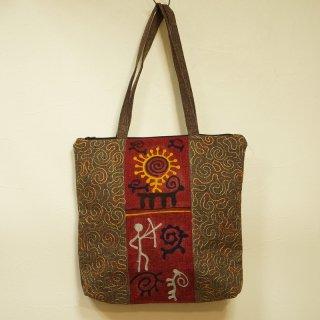 キルギス 伝統刺繍 トートバッグ2