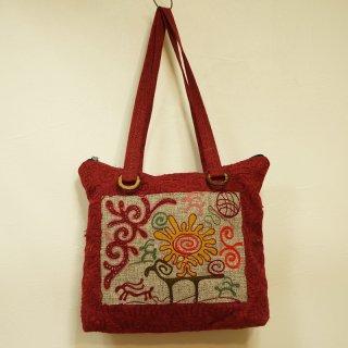 キルギス 伝統刺繍 トートバッグ3