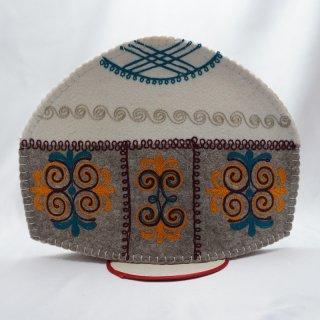 キルギスタン フェルト ティーコゼー ユルト3