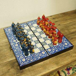 ウズベキスタン ハンドメイド民族風 木製チェス-03