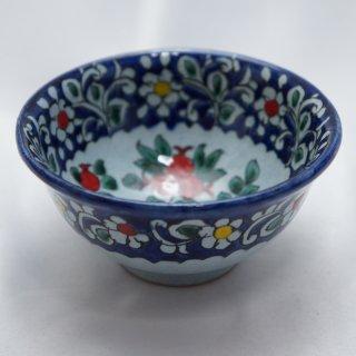 ウズベキスタン リシタンの陶器 コバルト色 ザクロ模様 カップ 2