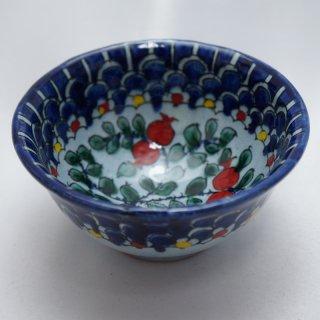 ウズベキスタン リシタンの陶器 コバルト色 ザクロ模様 カップ 4