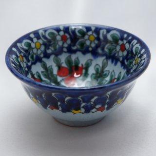 ウズベキスタン リシタンの陶器 コバルト色 ザクロ模様 カップ 5