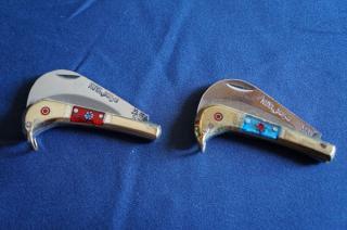 ウイグル人の伝統装飾ナイフ!インギサルナイフ(折りたたみ式、柄:真鍮)