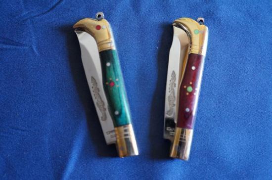 ウイグル人の伝統装飾ナイフ!インギサルナイフ(折りたたみ式、柄:天然木)
