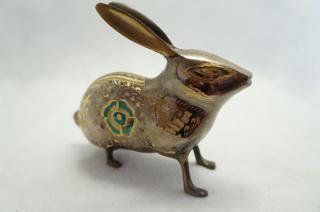 手彫り真鍮像 ウサギa