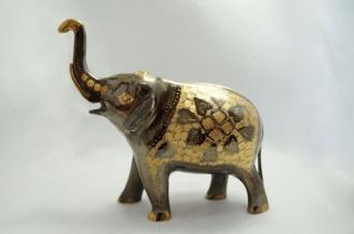 手彫り真鍮像 象:大サイズb