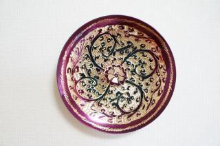 手彫り真鍮皿・小サイズ (フック付属)