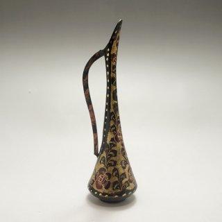 一輪挿し花瓶 小サイズ 花柄 黒
