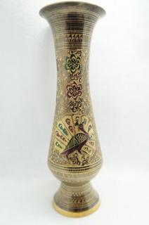 花瓶 大サイズ 孔雀、花柄