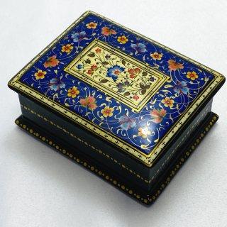 ウズベキスタン細密画木箱 6x8cm-01