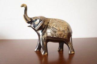 手彫り真鍮像 象:大サイズc