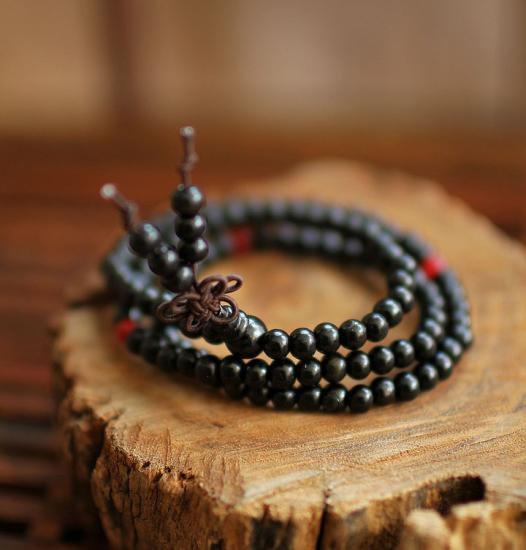 黒壇木数珠ブレスレット
