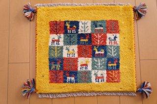 イラン・カシュガイ族の手作り絨毯 ギャッベ 40 x 40cm - 5