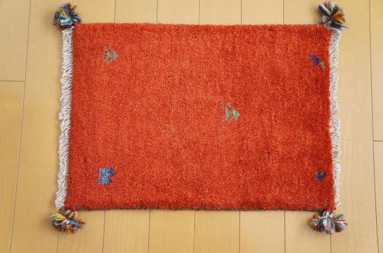 イラン・カシュガイ族の手作り絨毯 ギャッベ 60 x 40cm -03-