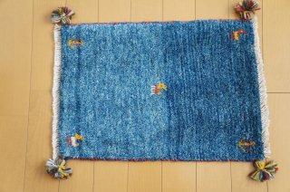 イラン・カシュガイ族の手作り絨毯 ギャッベ 60 x 40cm  -04-