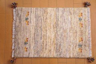 イラン・カシュガイ族の手作り絨毯 ギャッベ 90 x 60cm  -01-