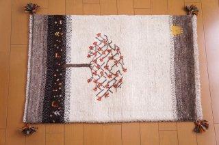 イラン・カシュガイ族の手作り絨毯 ギャッベ 90 x 60cm