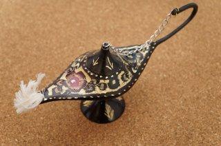 パキスタン手彫り工藝品 アラジンランプ 小サイズ g