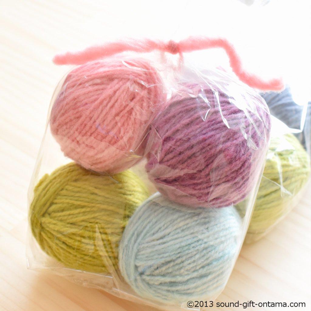 毛糸4色セット・細・パステル WM823 じっくり楽しむ手仕事道具