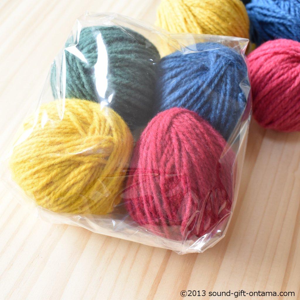 毛糸4色セット・細・ベーシック WM822 じっくり楽しむ手仕事道具