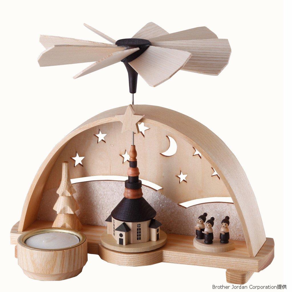 ウィンドミル・星空の教会 DR1282/42 伝統のクリスマス飾り・北欧の人形