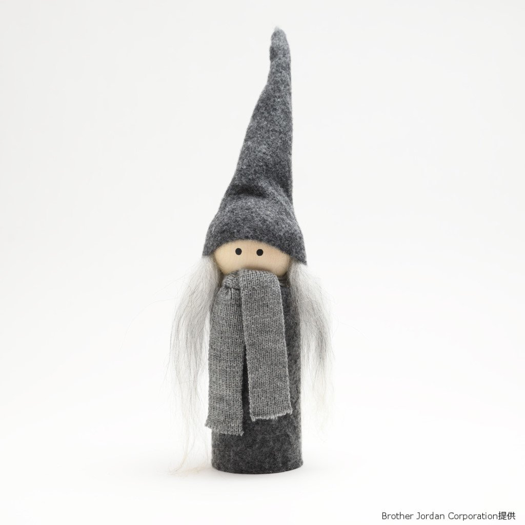 ホルツサンタ・グレー・ガール SP4616604 伝統のクリスマス飾り・北欧の人形