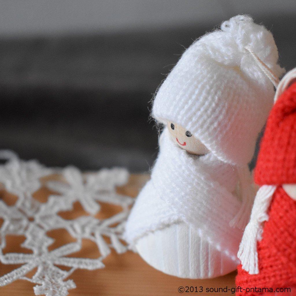 スウィングニッセ・ホワイト SP46546R 伝統のクリスマス飾り・北欧の人形