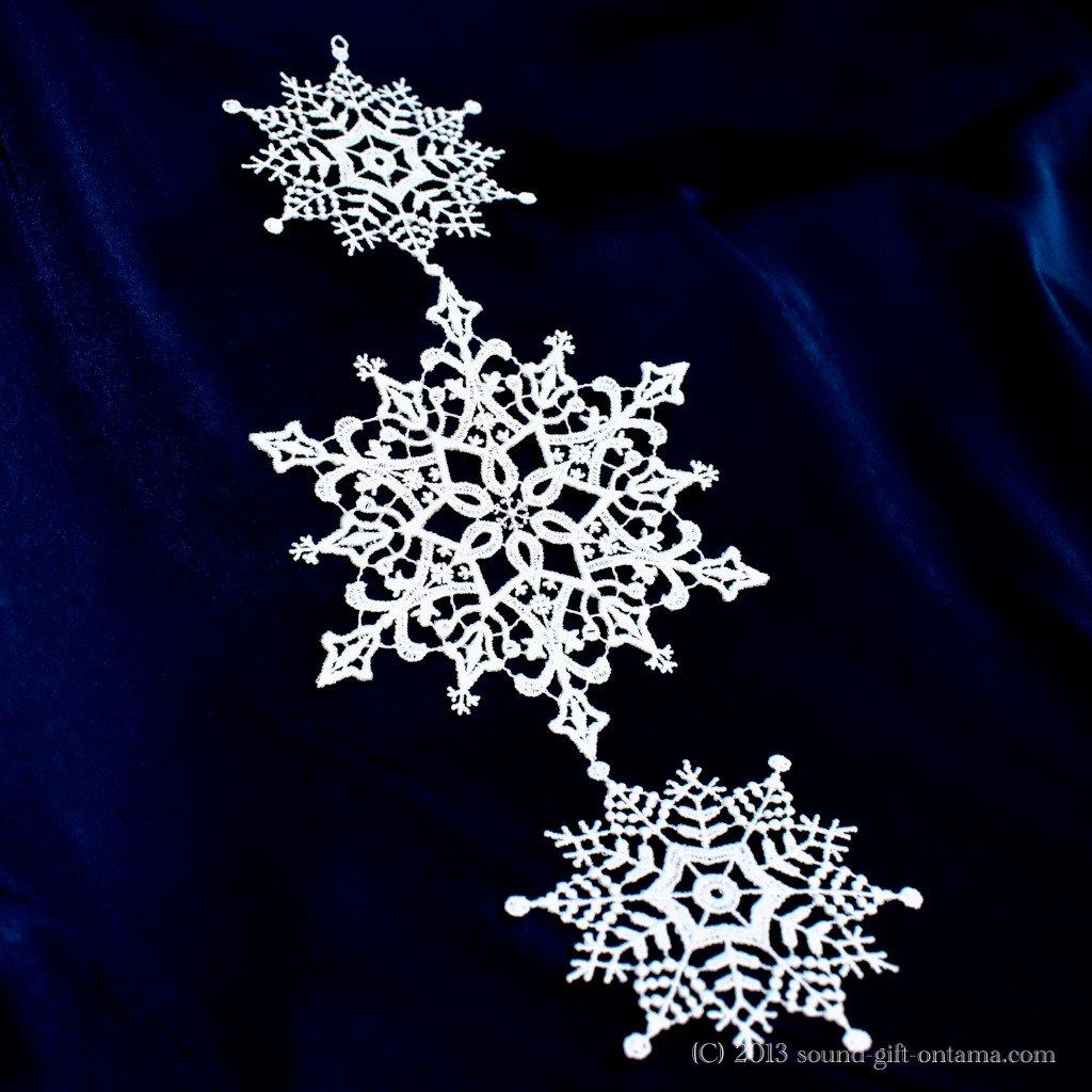 レースハンガー・雪 SA2816 伝統のクリスマス飾り・北欧の人形
