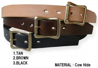 29602 30mm SINGLE PIN LEATHER BELT