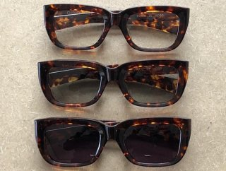 29198 TORTOISE FRAME TELEVISION CUT SUNGLASSES