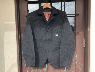 21895 BLACK CHAMBRAY COVER ALL JACKET