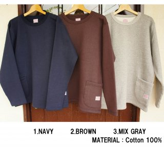 <img class='new_mark_img1' src='https://img.shop-pro.jp/img/new/icons15.gif' style='border:none;display:inline;margin:0px;padding:0px;width:auto;' />26335  SIDE POCKET SWEAT TEE