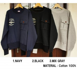 <img class='new_mark_img1' src='https://img.shop-pro.jp/img/new/icons15.gif' style='border:none;display:inline;margin:0px;padding:0px;width:auto;' />26336  ONE POCKET SWEAT (U.S.ARMY AIR FORCES)