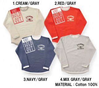 <img class='new_mark_img1' src='https://img.shop-pro.jp/img/new/icons15.gif' style='border:none;display:inline;margin:0px;padding:0px;width:auto;' />26632 PILE SWEAT TEE (U.S.ARMY AIR FORCES)