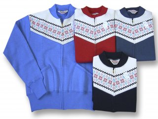 26905 SNOW PATTERN FULL ZIP CARDIGAN