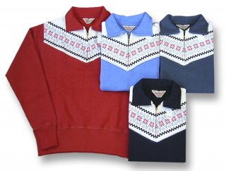 26942 SNOW PATTERN HALF ZIP POLO