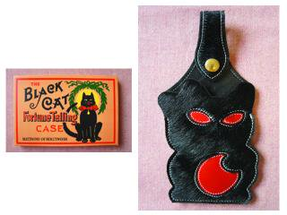 69315 BLACK CAT FORTUNE TELLING CASE (HAIR-ON HIDE)