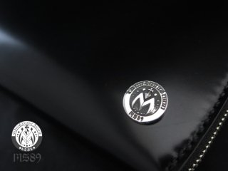 ROCK  on cordovan roundzip wallet