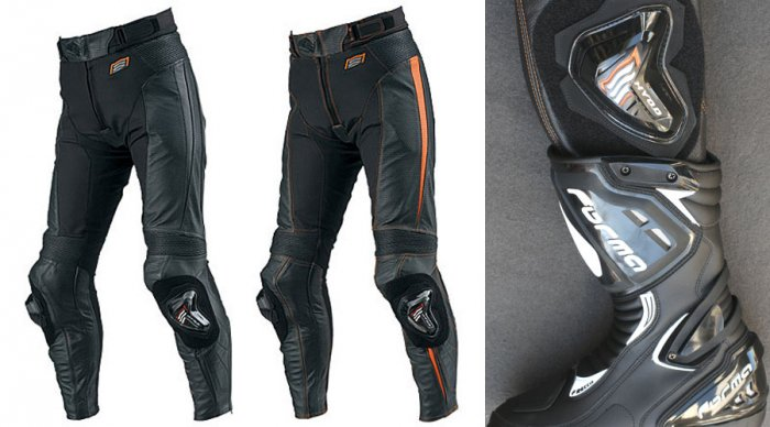 HYOD HSP709 MESH LEATHER PANTS(BOOTS-IN)