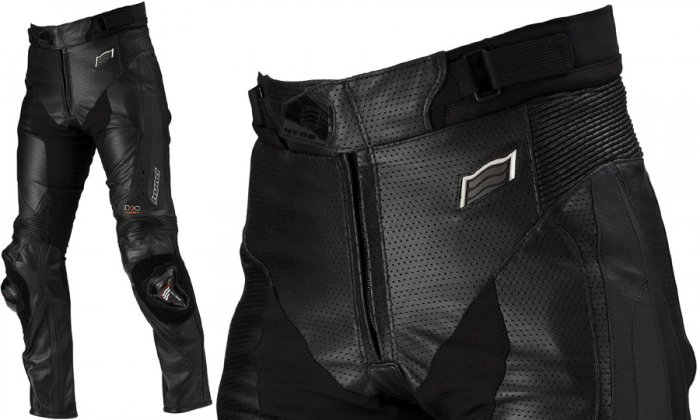 HYOD HSP012D MESH LEATHER PANTS(BOOTS-OUT)ブラック