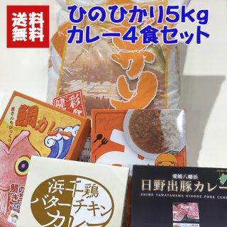 【ふるさと応援】ひのひかり5kgカレー4食セット