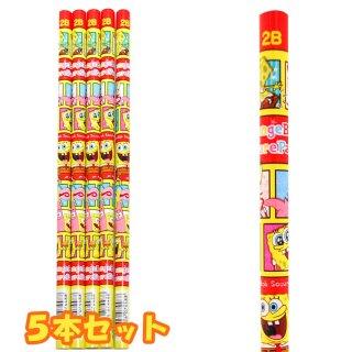 スポンジボブ 2B鉛筆(ブロック)5本セット 4729118 SB